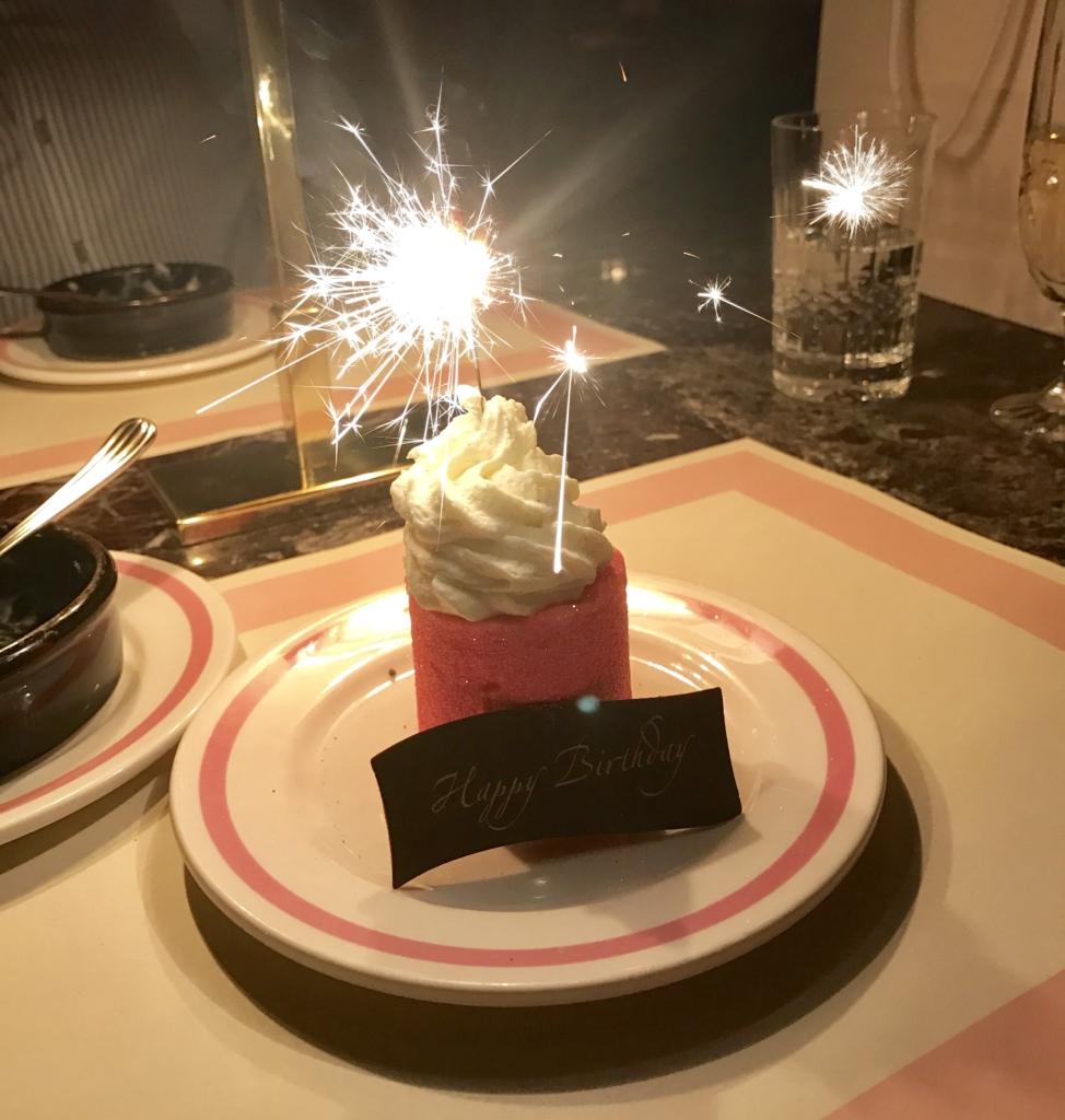 Happy Birthday at Bob Bob Ricard Soho London