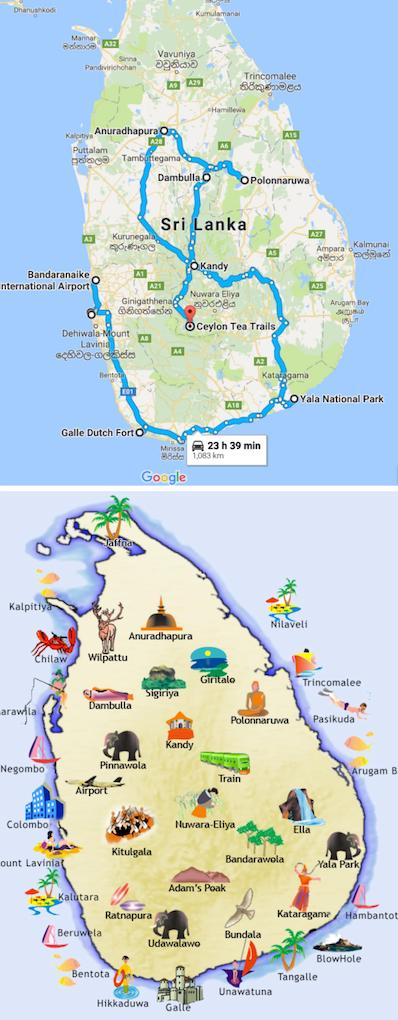 Sri Lanka Maps