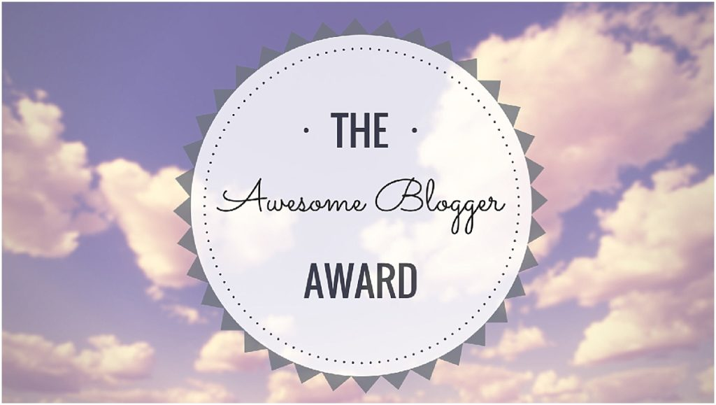 Awesome Blogger Award!