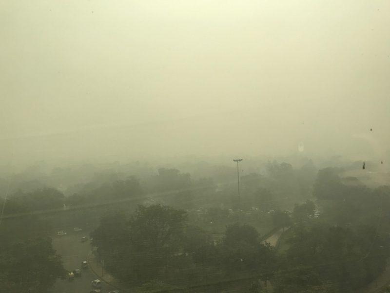Delhi Air Pollution View